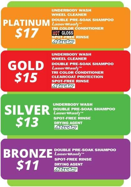 North Olmsted Laser Wash Pricing